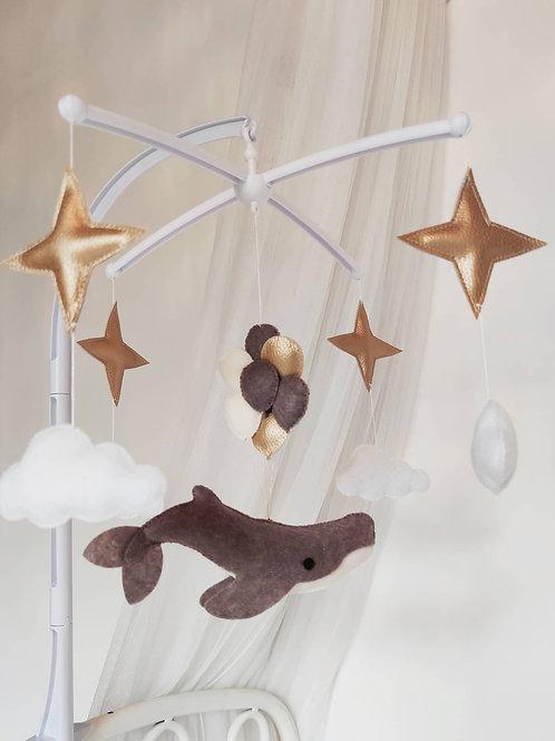 Mobile musical Baleine et ballons