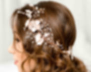 Beautiful rose gold bridal hair piece