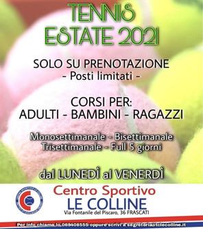 Settimanale Estate Tennis 2021