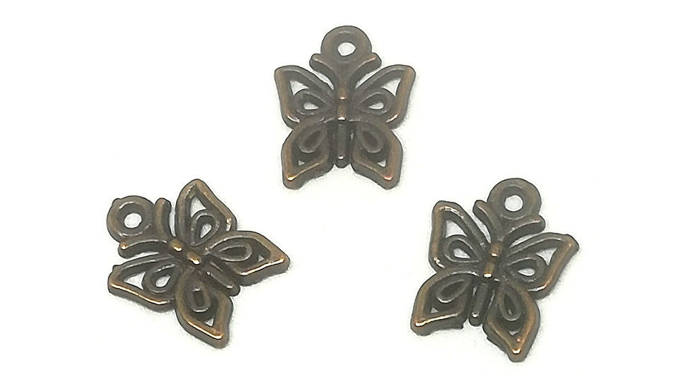 Copper Butterfly Charms