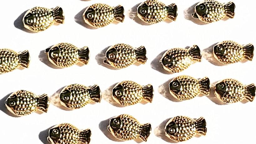 Gold Fish Beads