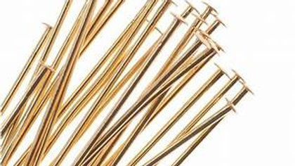 Gold Plated Head Pins