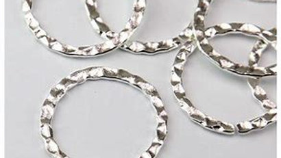 Hammered Silver Linking Rings
