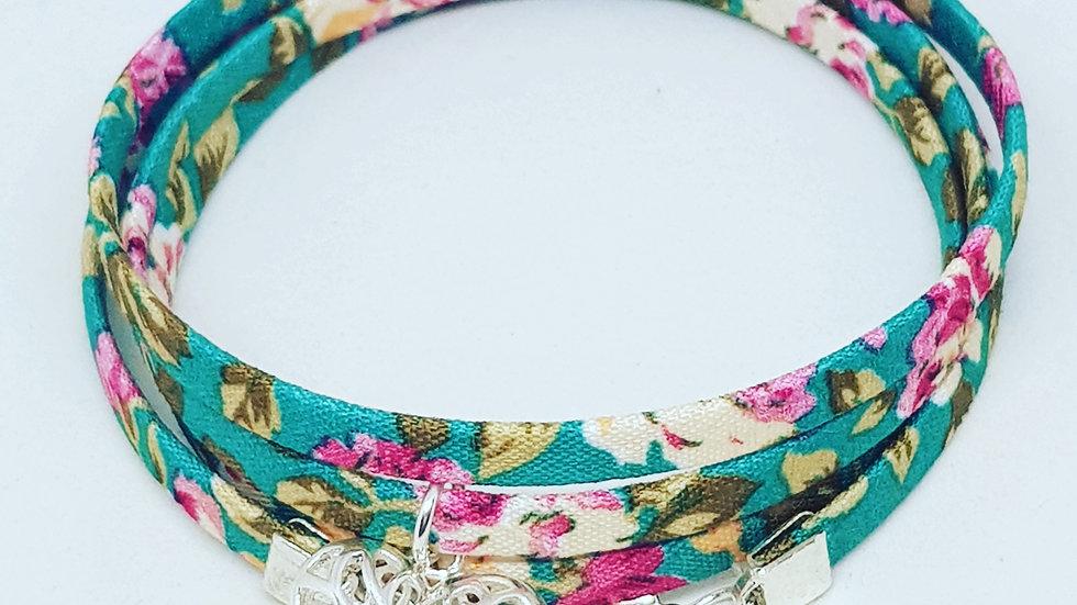 Hearts & Flowers Wrap Bracelet