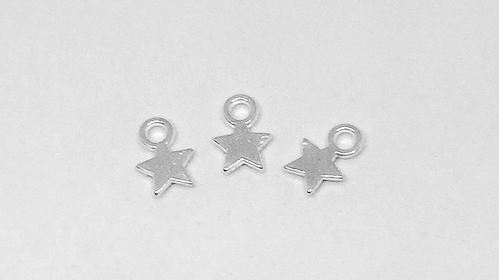Tiny Silver Star Charms