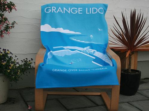 Lone Swimmer Beach Towel