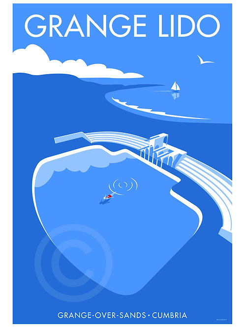 Lone Swimmer Giclée Print by Stephen Millership