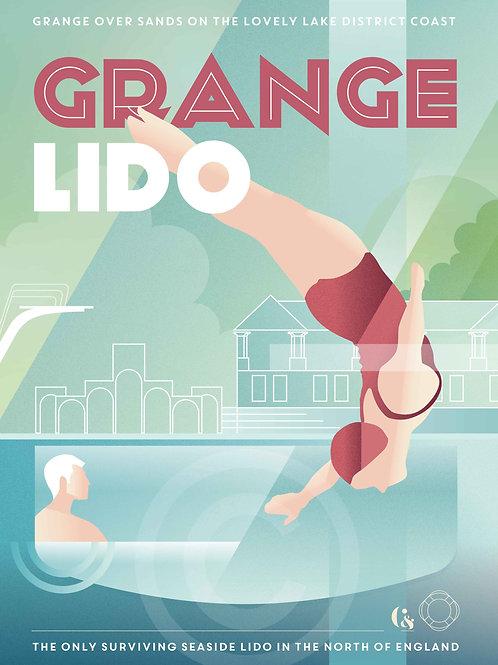 Deco Diver Green Giclée Print by Steve Carne
