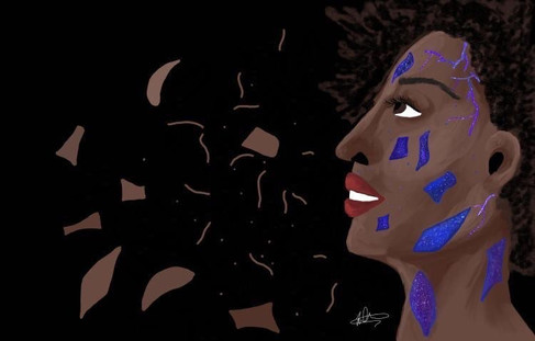 This one is about amplifying race. It's about embracing the colour of your skin, and seeing that there is so much beauty embedded in skin. It's about amplifying the richness of history and culture that comes with being a minority with darker skin.