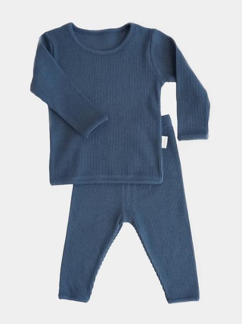 Ribbed Loungewear - Classic Blue