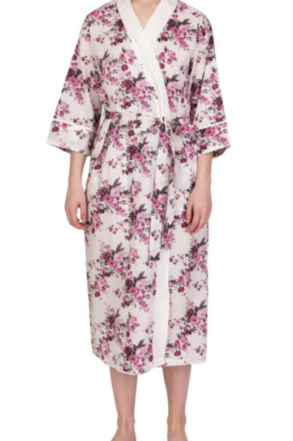 Lilac Rose dressing gown