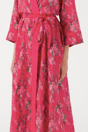 Coral rose dressing gown
