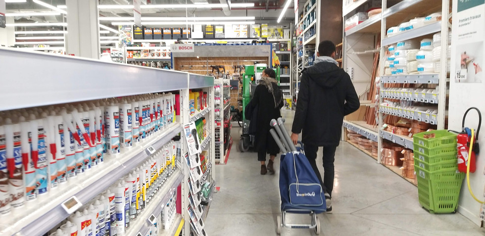 Shopping for materials