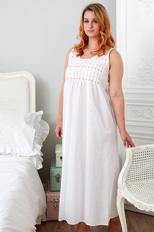 Lizzie: Sleeveless cotton nightdress