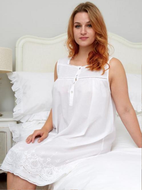 Rosie Sleeveless cotton nightdress