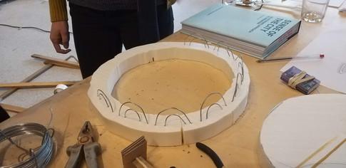 Prototype v.1 - a styrofoam loop without mesh