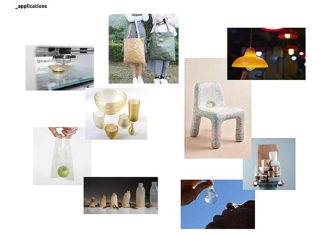 bioplastic inspiration - Applications.jp