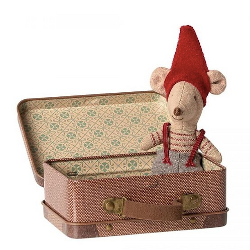 Maileg: Christmas Mouse in a Suitcase