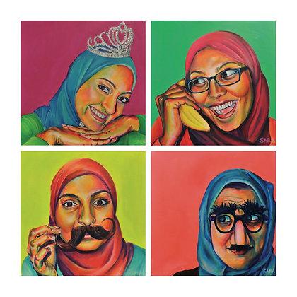 Technicolor Muslimah Combo Print #2