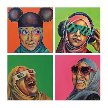 Technicolor Muslimah Combo Print #1