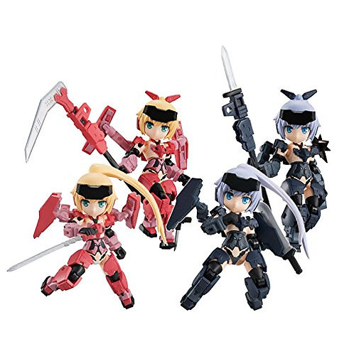 Desktop Army Frame Arms Girl KT-323f Jinrai Series 4Pack Box