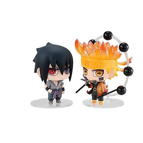 Megahouse Naruto: Chimi-Mega Buddy Series Naruto & Sasuke 2Piece Figure Set