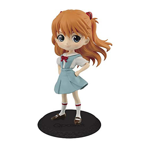 Banpresto Evangelion Movie Q Posket-Shikinami Asuka Langley-(Ver.B), Multicolor