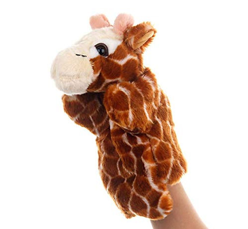 Funrarity Cute Fluffy Storytelling Role Playing Animal Hand Puppet (Giraffe)