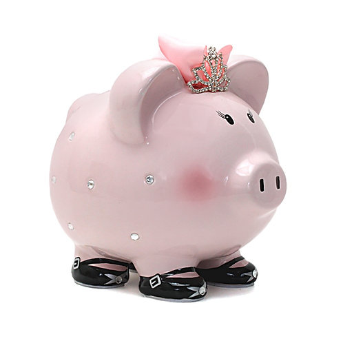 Child to Cherish Ceramic Princess Piggy Bank for Girls