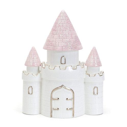 Child to Cherish Ceramic Dream Big Princess Castle Piggy Bank for Girls