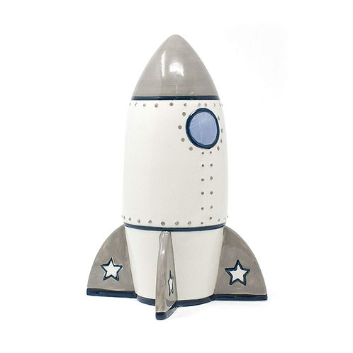 Child to Cherish Roger Rocket Piggy Bank for Boys