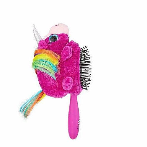 Wet Brush Plush Detangler Hair Brush for Kids Soft IntelliFlex Bristles, Unicorn