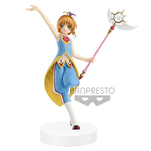 Banpresto Cardcapter Sakura Clear Card Exq Figure-Sakura Kinomoto, Multicolor