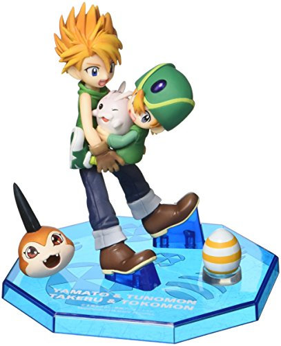 Megahouse Yamato & Takeru with Digimon GEM Series Figure