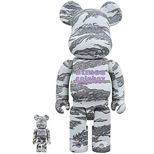 Medicom Toy Bearbrick Be@rbrick Atmos solebox 100% 400% Set Bundle Figure Gray