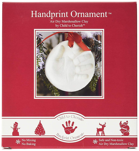 Marshmallow Clay Baby Handprint or Footprint First Christmas Ornament Kit