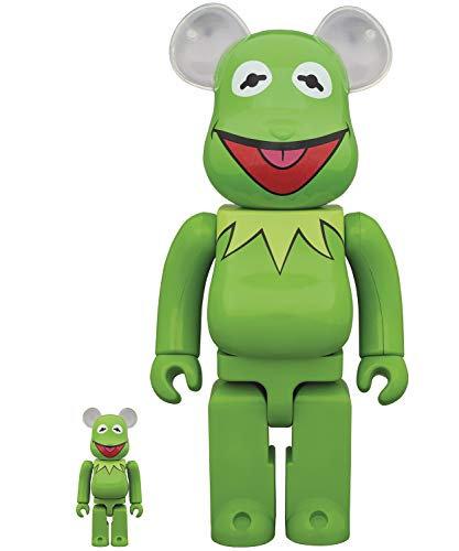 Medicom The Muppets: Kermit The Frog 100% & 400% Bearbrick 2 Pack