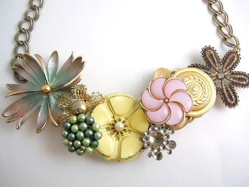 Pastel Garden Collar Necklace