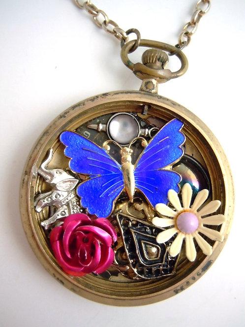 Secret Garden Pocketwatch Necklace