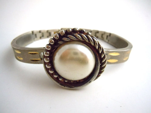 Twisted Pearl Watch Band Bracelet
