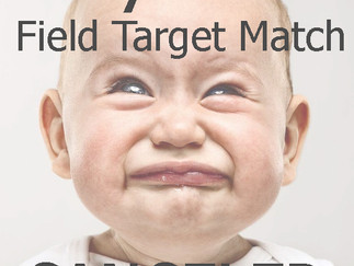 May 17th Field Target Match CANCELED