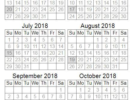 2018 Match Schedule