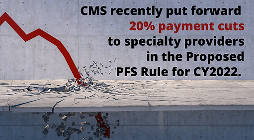 CMS recently put forward deep, across-the-board 20% payment cuts to specialty providers in