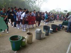 Ceremonia retiro tachos de basura