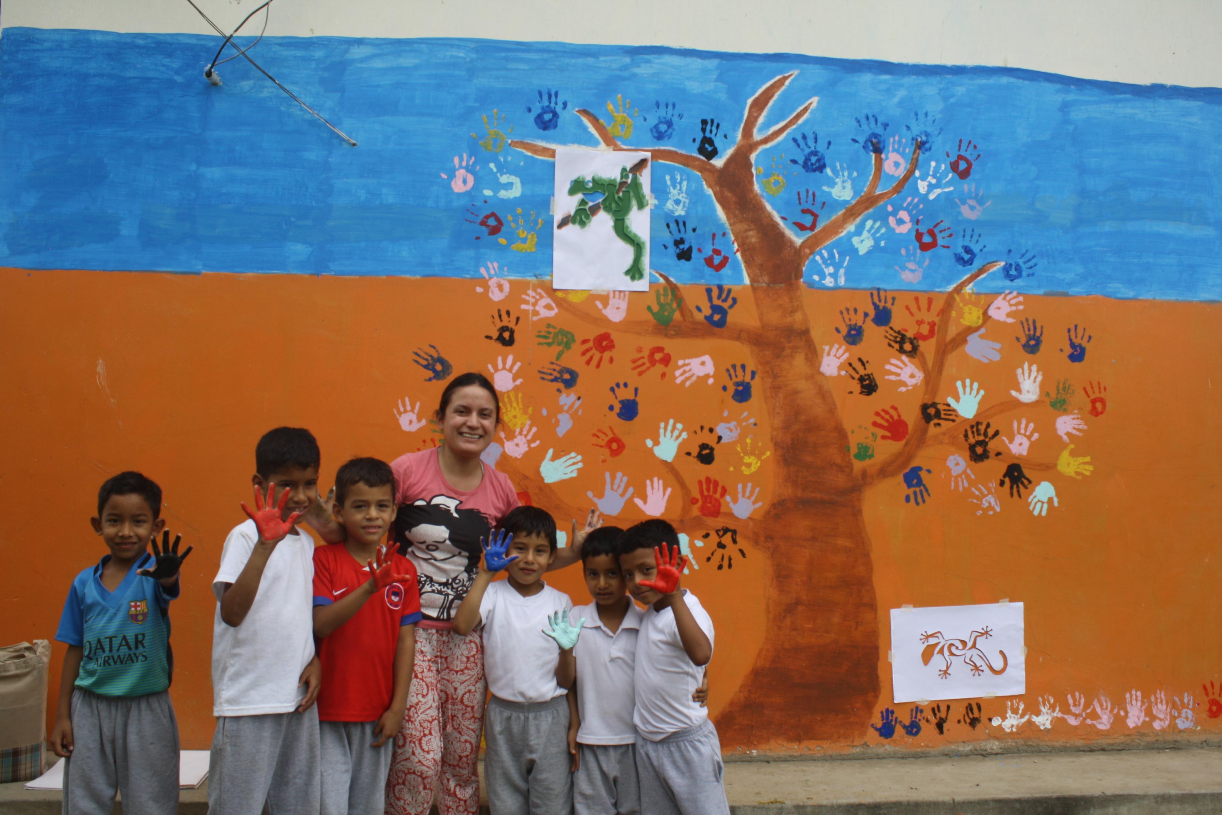 Murales en instituciones educativas