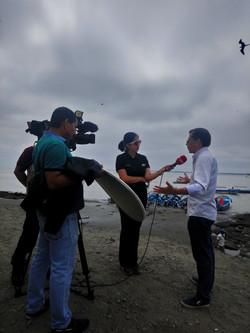 Entrevista con ECUAVISA por denuncia de contaminación generada por el Puerto de Aguas Profundas