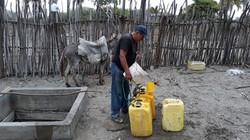 Recolección de agua de pozo