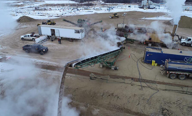 Winter aggregate Heating