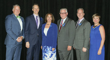 From left, Scott Orr, Fidelity Investments; Dr. Paul Hain, Blue Cross Blue Shield of Texas; Barclay Berdan and David Tesmer, Texas Health Resources; and Kristin Jenkins DFW Hospital Council Foundation