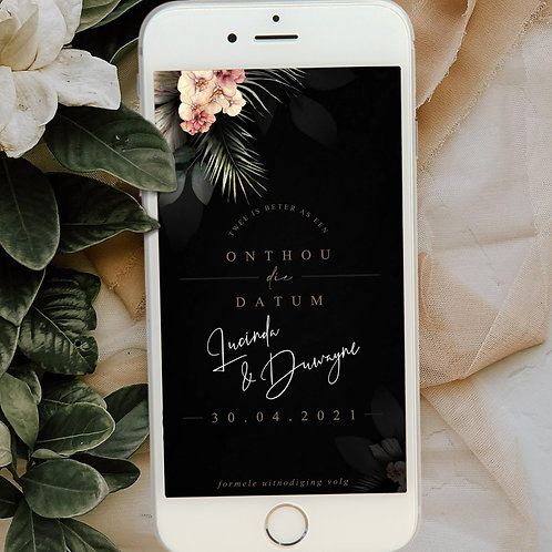 Mysterious Digital Save The Date Photo (Ready To Order)
